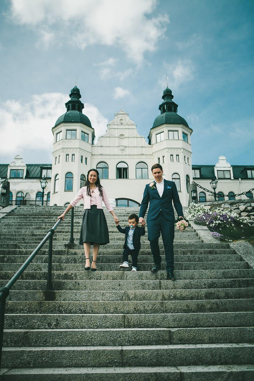seance photo mariage dans un chateau en bord de mer