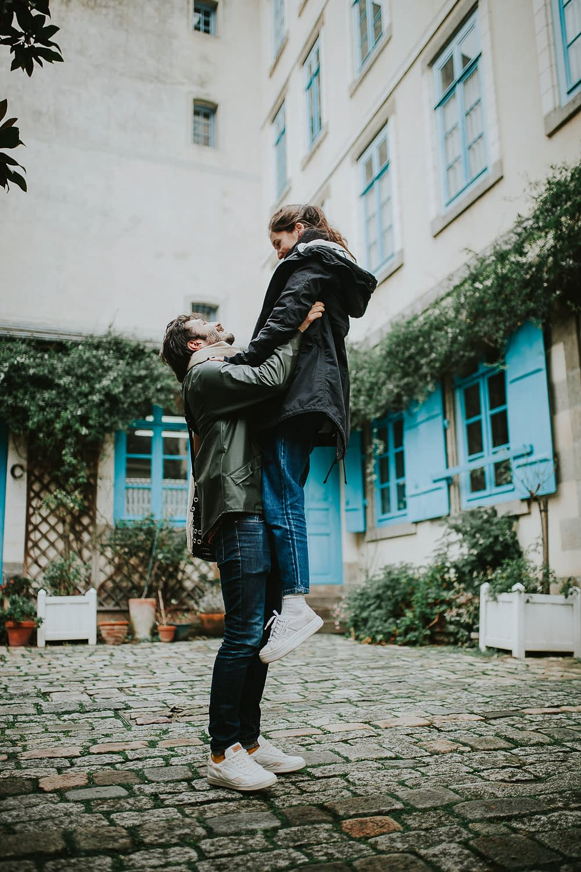 seance photo couple engagement rennes 33