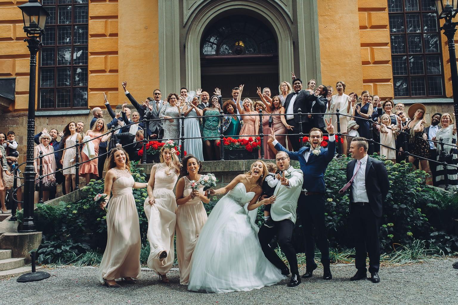 photo de groupe grande mariage