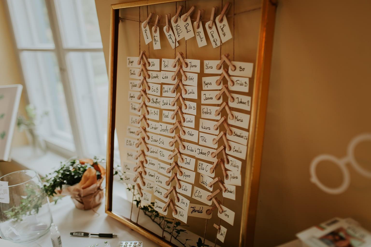 détails de décoration de mariage