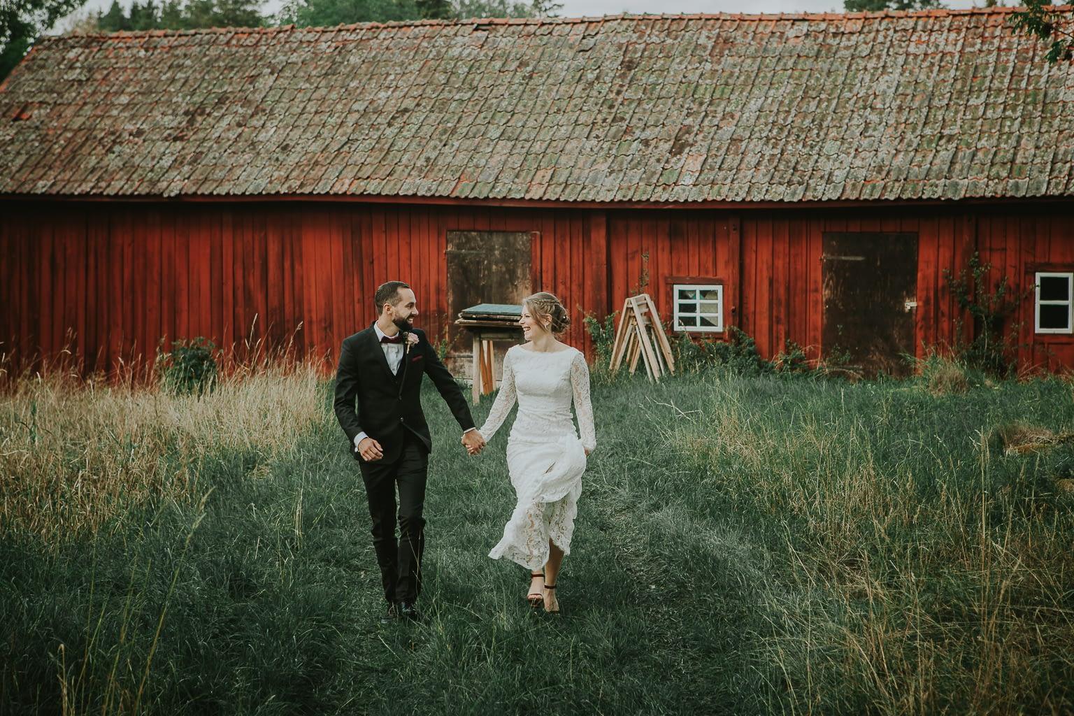 photo de mariage dans la campagne française