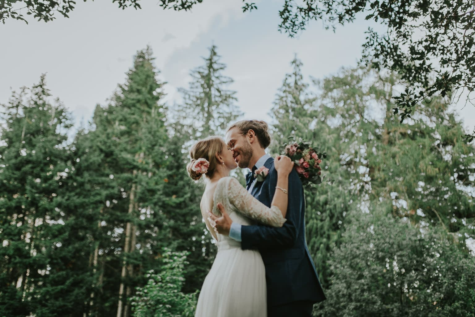 couple amoureux photo mariée