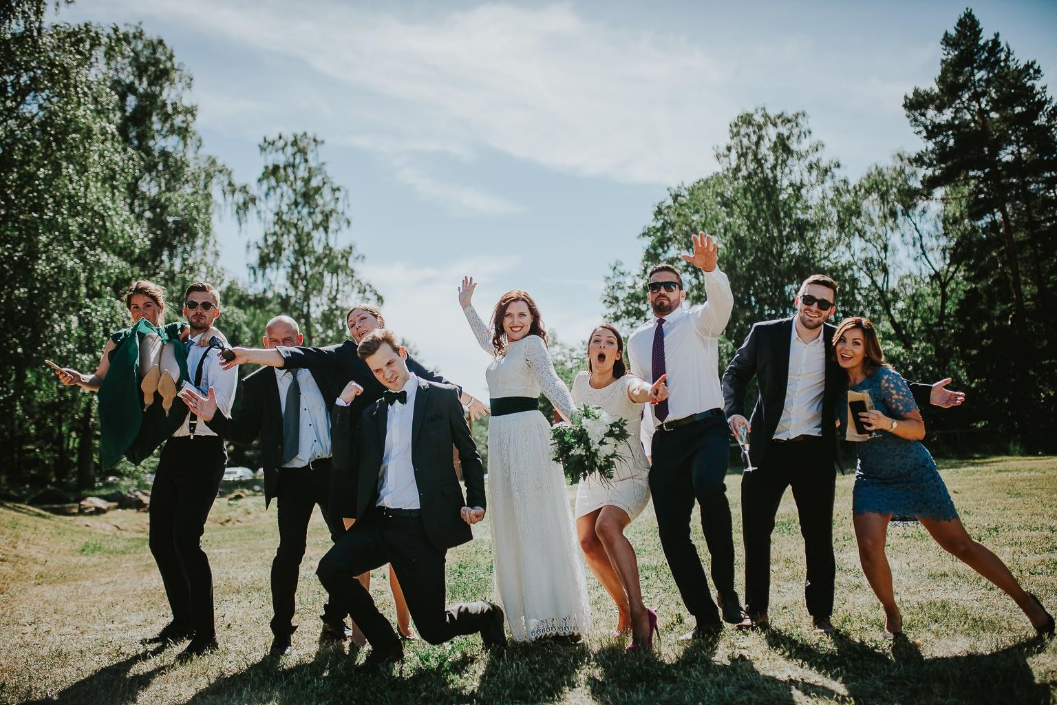 drôles de photos de mariage photographie de groupe
