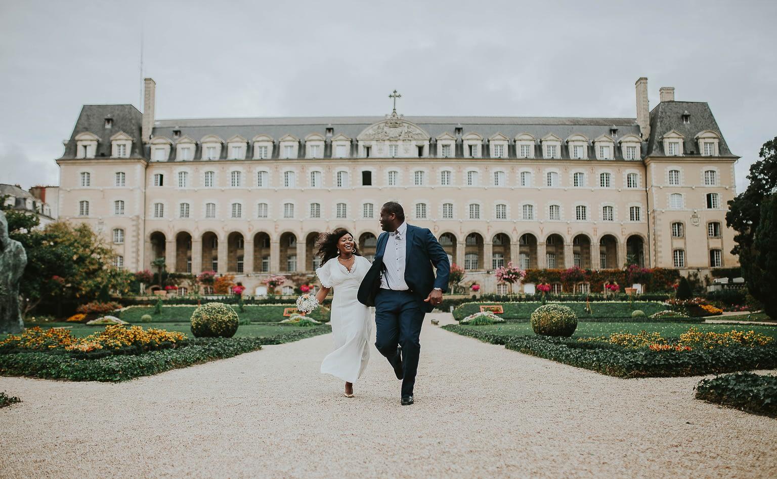 photographe mariage jardin saint georges rennes